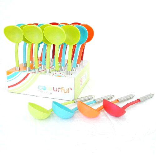 Utensilios cocina cazos nylon colores - Utensilios de cocina de silicona ...
