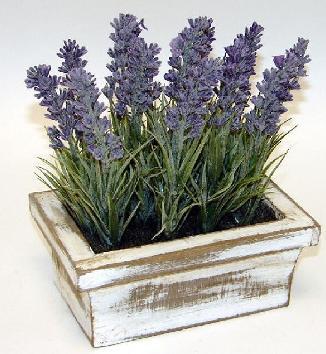 Velas y flores maceta de madera lavanda - Maceta de madera ...
