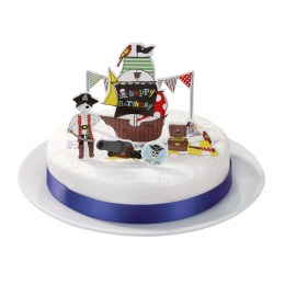 Decoración Tarta Piratas