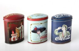 Set 3 Latas Coca Cola Retro