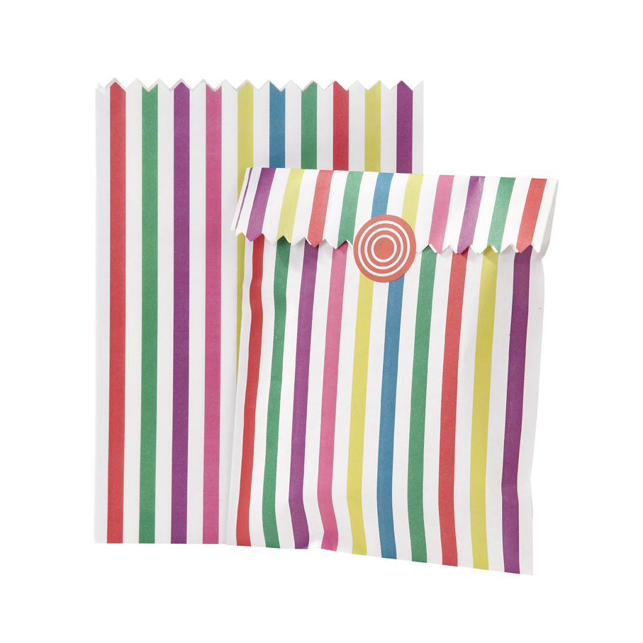 Set 10 Bolsas Papel Multicolor