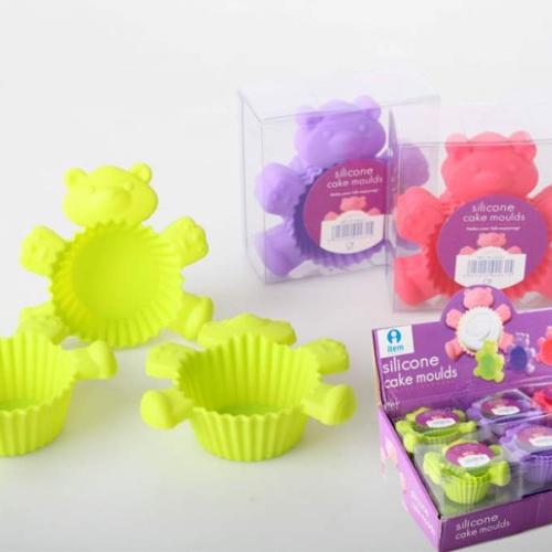 Moldes silicona y metal set 3 moldes silicona magdalenas - Moldes cupcakes silicona ...