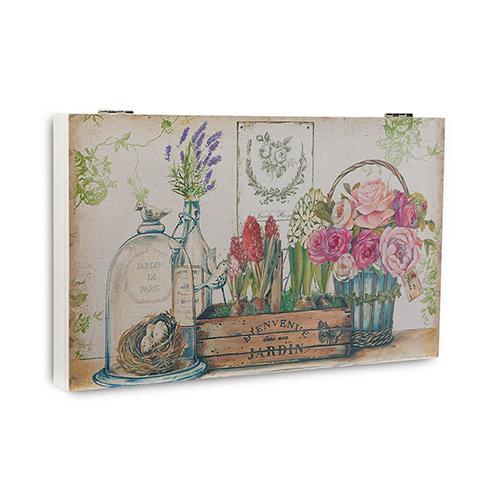 Cuadros y perchas cubre contador luz rosas - Tapas decorativas para contadores luz ...
