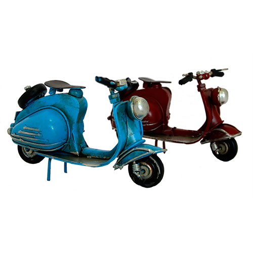 Vespa Decorativa Azul
