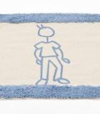 Alfombra Baño Azul