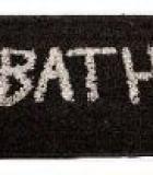 Alfombra Baño Bath Negra