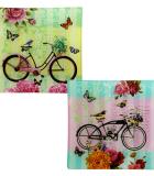Set 2 Bandejas Cristal Bicicletas