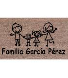 Felpudo Personalizado Familia