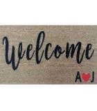 Felpudo Welcome Iniciales