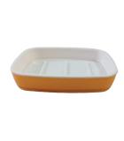Jabonera Acrílica Naranja / Blanca