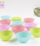 Jgo. 12 Moldes Cupcakes Silicona
