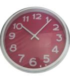 Reloj Fucsia y Blanco 30cm